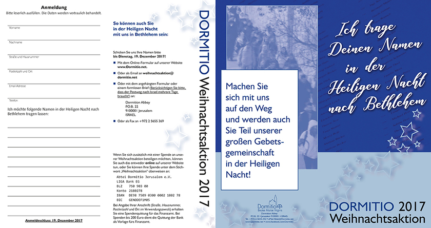 Weihnachtsaktion 2017 - Flyer (deutsch)
