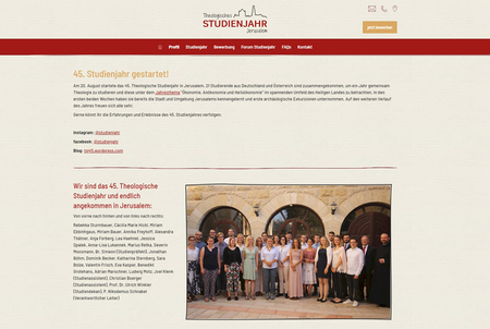 Website des Forum Studienjahr